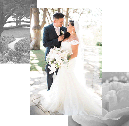 Wayfarers Chapel wedding couple - Carissa Woo Photography